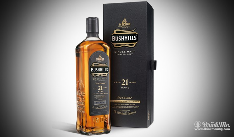 Bushmills 21 Year Irish Whiskey Drink Me Magazine