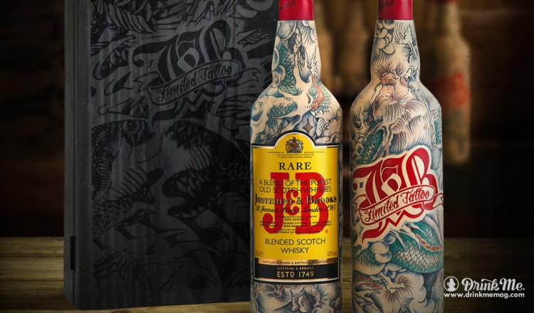 J&B Limited Edition Tattooed Bottles Drink Me Magazine