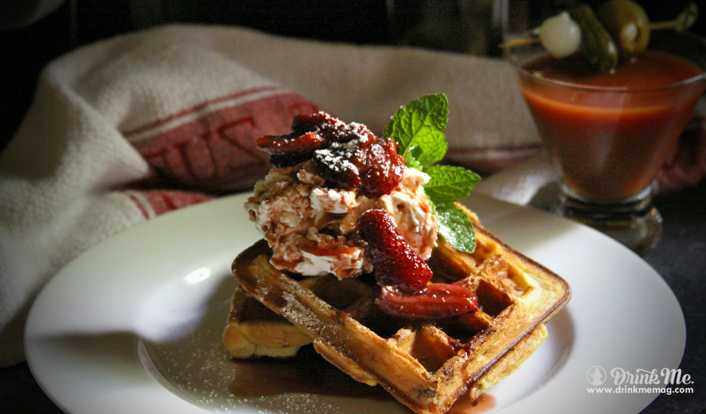 Port Balsamic Strawberry Waffles Drink Me Magazine