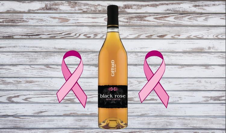 Black Rose Breast Cancer Drink Me