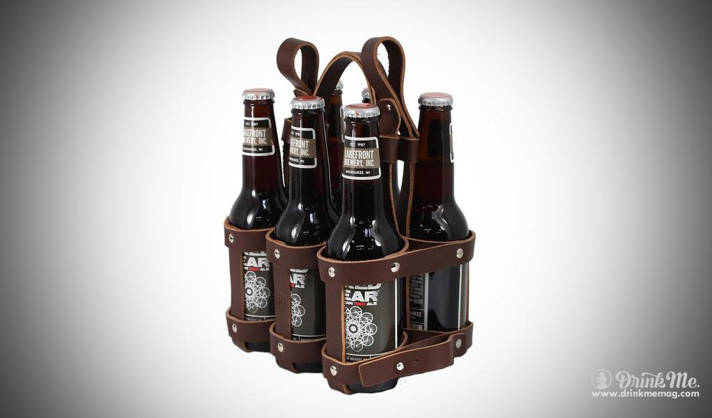 6 Pack Beer Leather Case Drinkmemag.com Drink Me