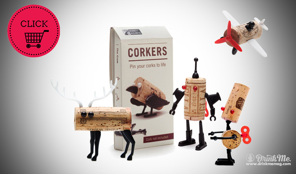 Corkers Robots Set wine gifts drinkmemag.com drink me