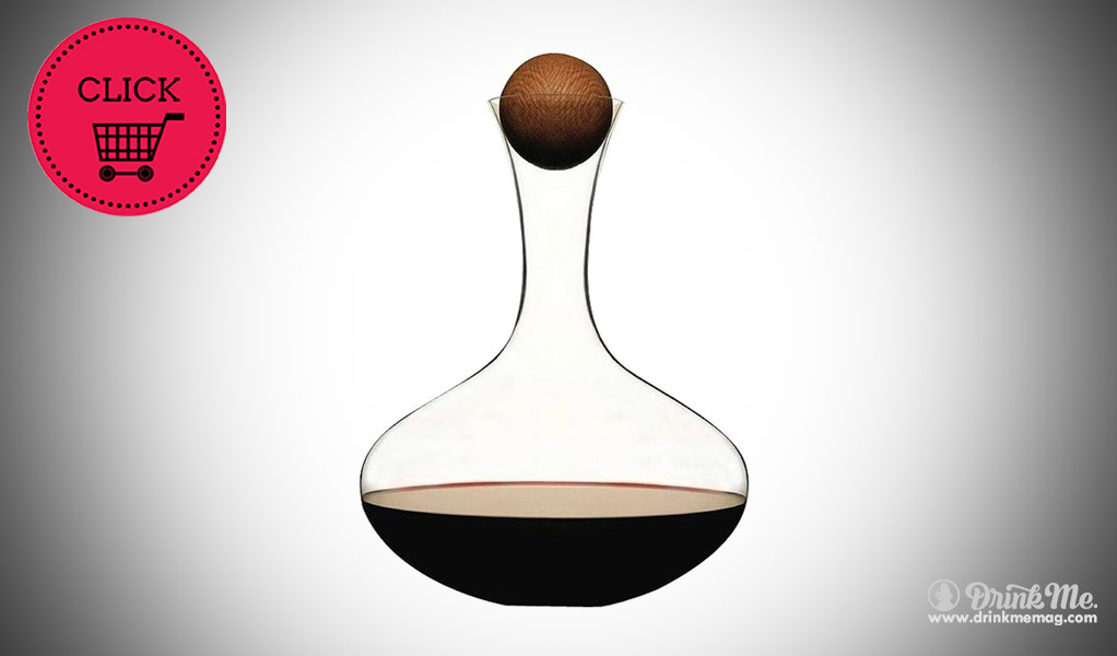 Wine Carafe with Oak Stopper design by Sagaform drinkmemag.com wine gifts