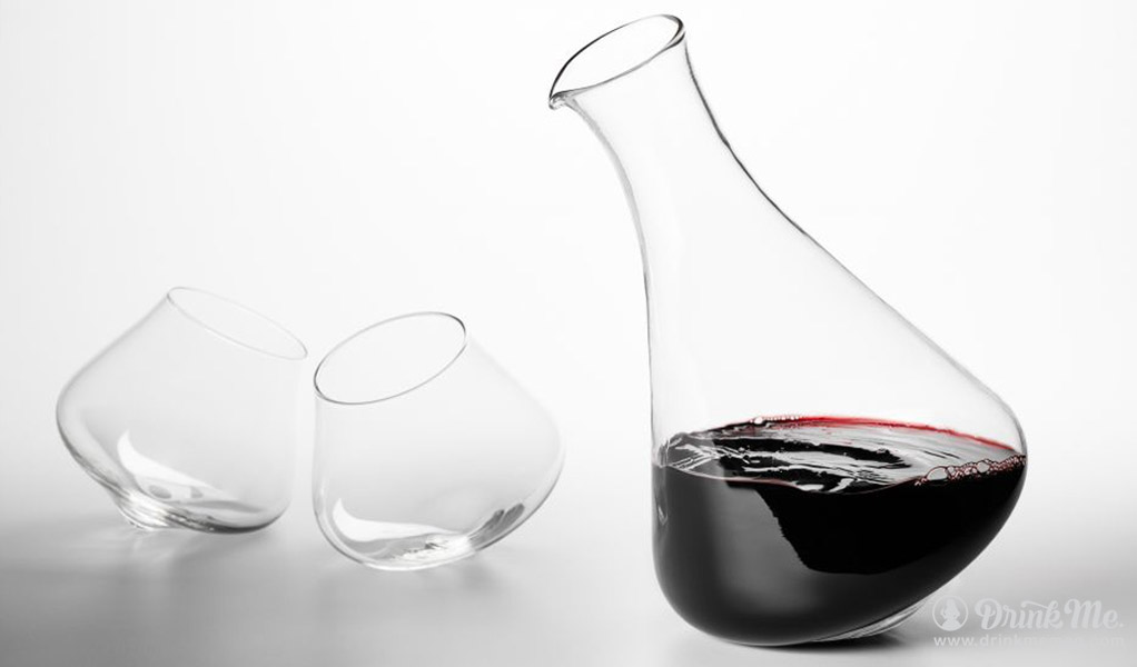Kinetic Revolving Decanter And Glasses Drink Me