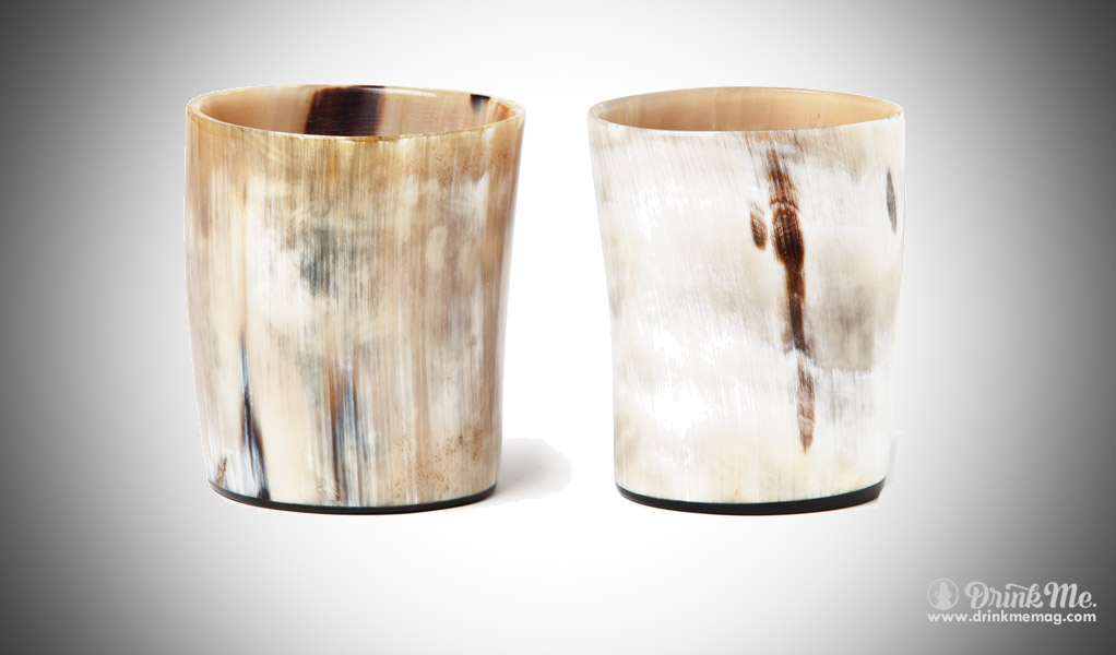 Ox Horn Double Old Fashioned Whiskey Tumblers by Sir Jack's drinkmemag.com drink me