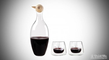 The Birdie Carafe Set drinkmemag.com drink me cool gifts wine