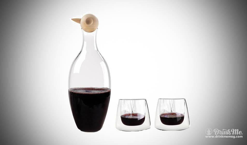 The Birdie Carafe Set drinkmemag.com drink me cool gifts wine