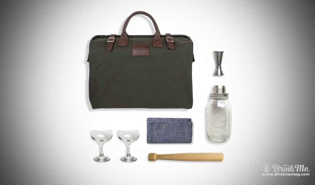 W&P Design Forest Tote Cocktail Kit Design drinkmemag.com drink me