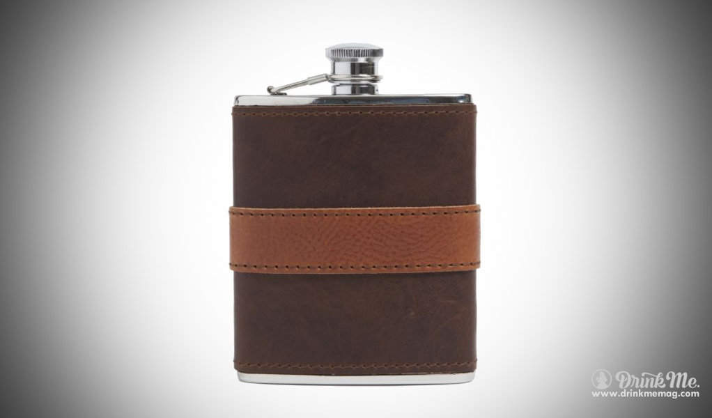 Moore & Giles Leather Wrapped Flask drinkmemag.com drink me