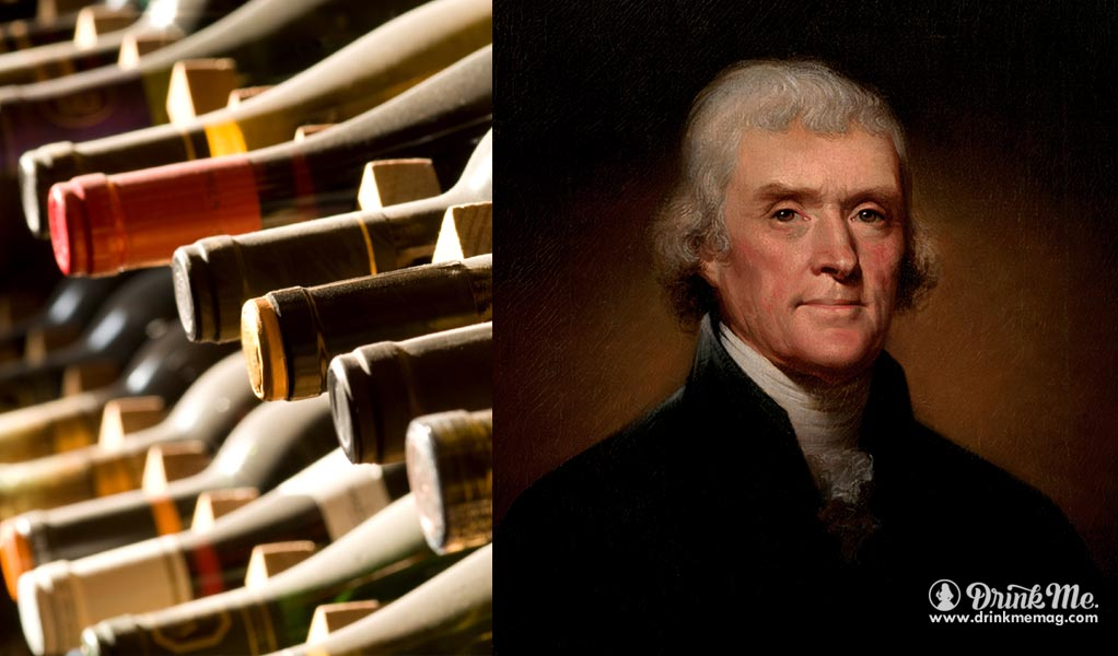 Thomas Jefferson drinkmmeag.com drink me biggest wine collection in the world
