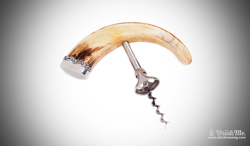 Antique Warthog Tusk cork screw drinkmemag.com drink me