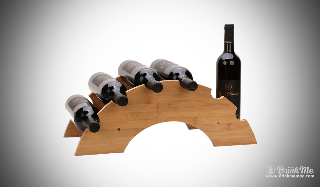 Bamboo Wine Rack Holder drinkmemag.com drink me