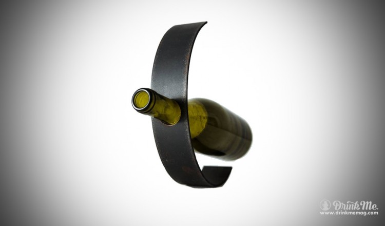 Handcrafted Iron Wine Holder by aizara drinkmemag.com drink me