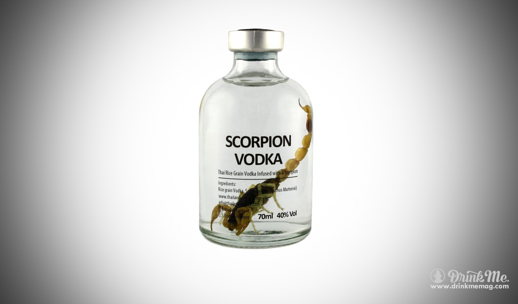 Scorpion Vodka drinkmemag.com drink me insects in drinks weird alcohol