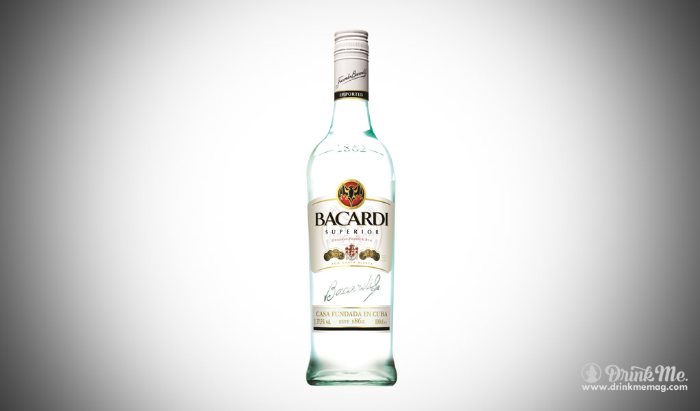 Bacardi Superior best popular spirits in the usa drinkmemag.com drink me
