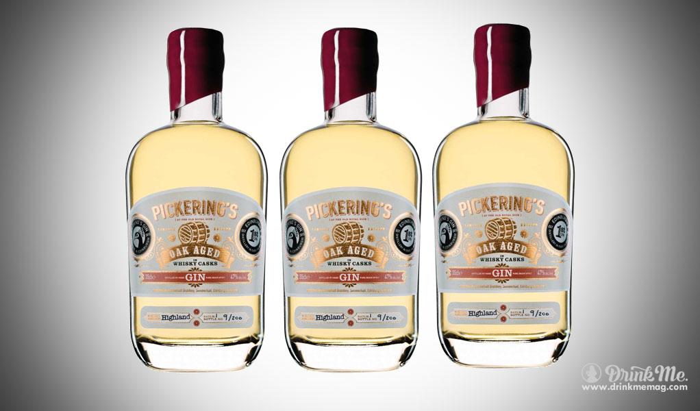 Pickerings Oak Aged Gin drinkmemag.com drink me