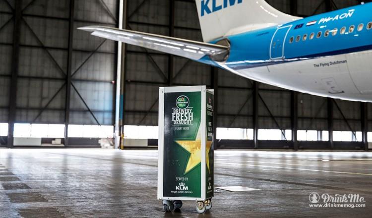 heinekin draft onboard KLM drinkmemag.com drink me