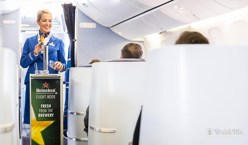 heinekin draft onboard KLM drinkmemag.com drink me2