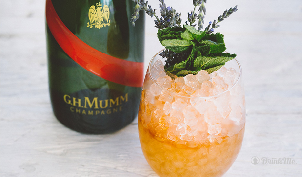 drink me magazine derby MUMM Trifecta cocktail G.H. Mumm Grand Cordon Champagne