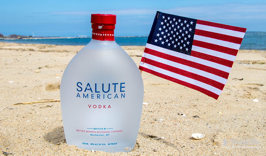Beach Bottle Flag Shot drinkmemag.com drink me Salute Vodka