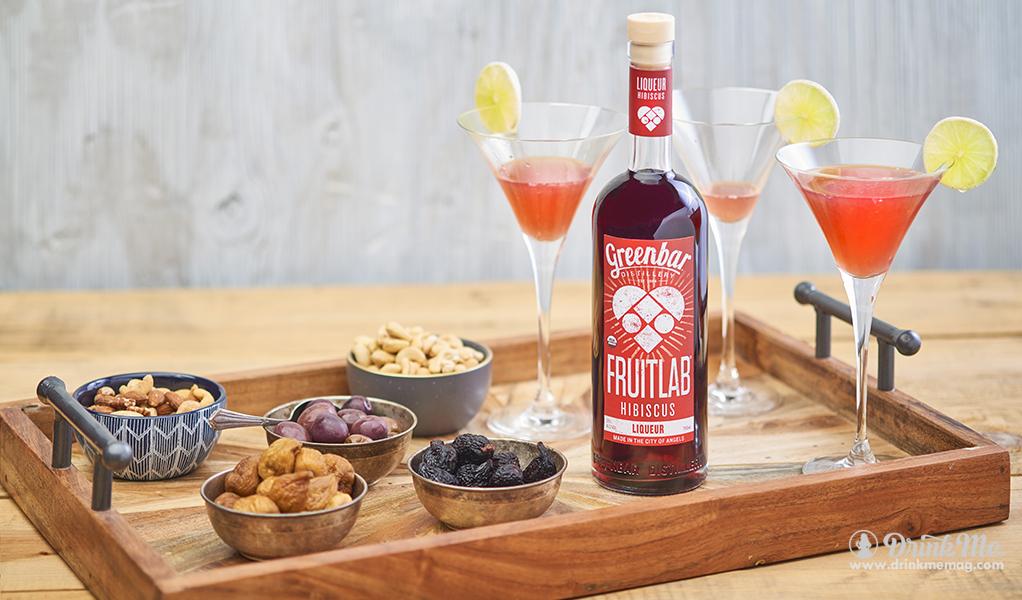 FRUITLAB Hibiscus Liqueur drinkmemag.com drink me Greenbar Distillery Campaign