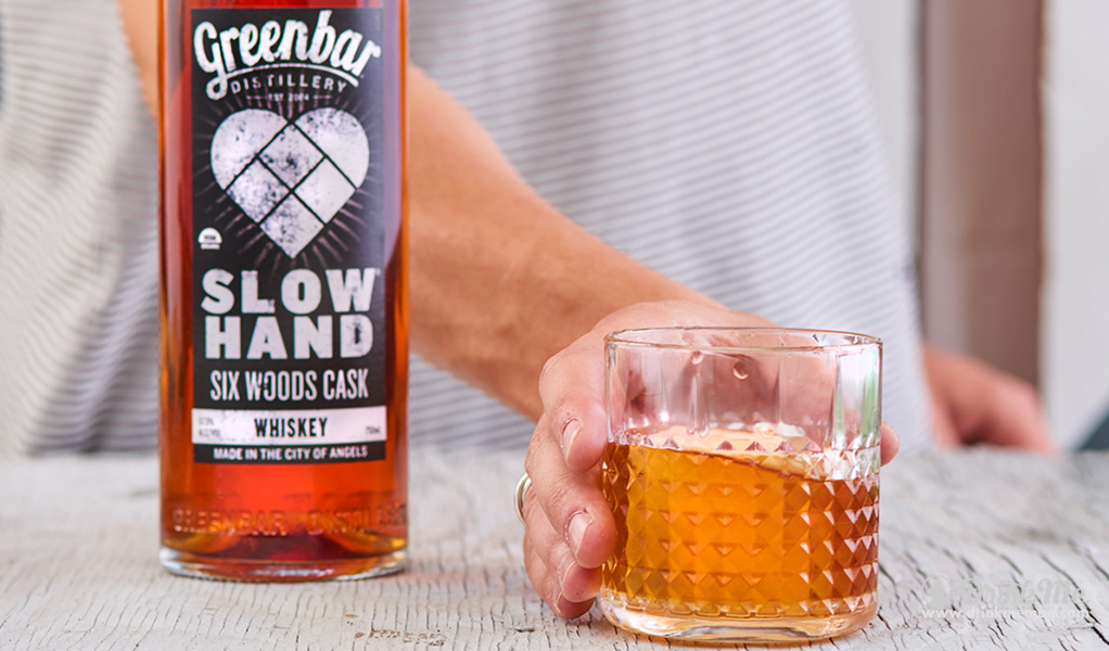 SLOWHAND Six Woods Cask Whiskey 3 drinkmemag.com drink me Greenbar Distillery Campaign