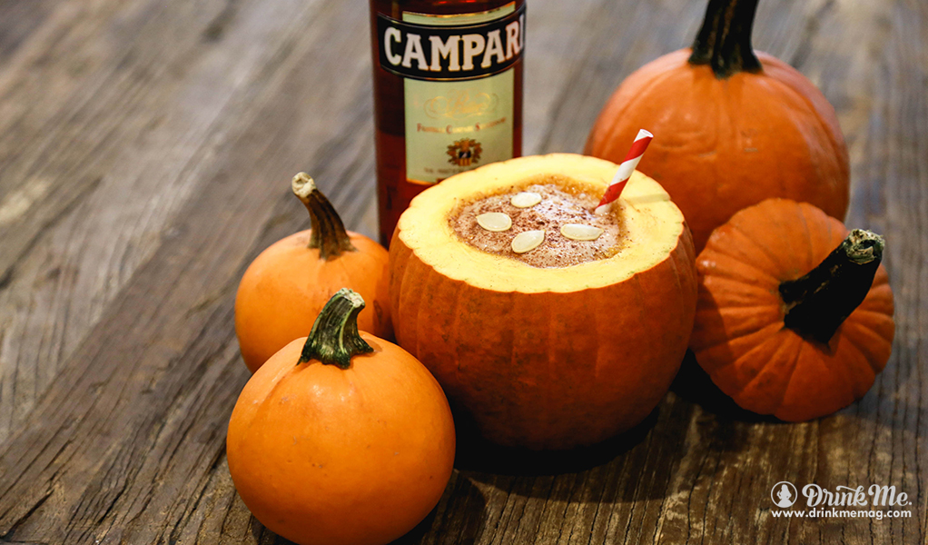 Pumpkin Spice Negroni drinkmemag.com drink me Top Creepy Halloween Cocktails