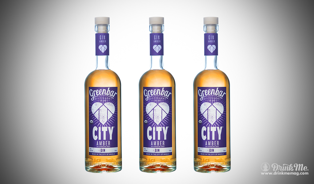 City Amber Gin drinkmemag.com drink me Greenbar Distillery Campaign