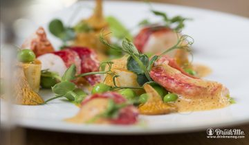 LOBSTER roasted peas girolles raviole lobster bisque drinkmemag.com drinkme Les 110 Taillevent