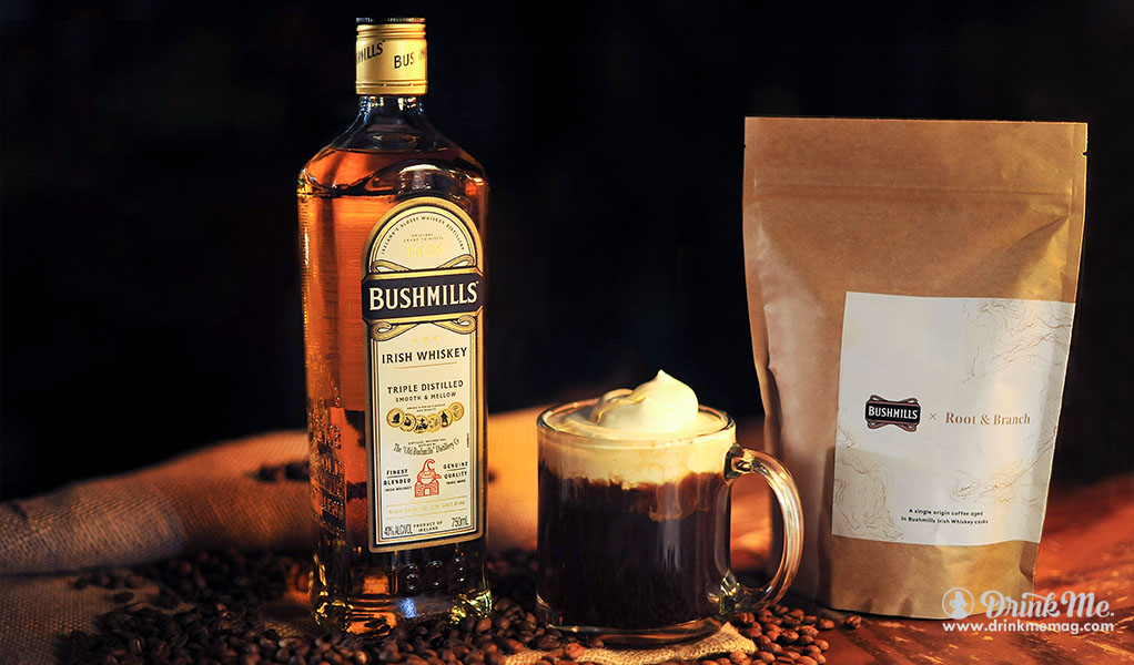 Bushmills REAL IRISH Coffee Cocktail drinkmemag.com drink me Winter Whiskey Cocktails