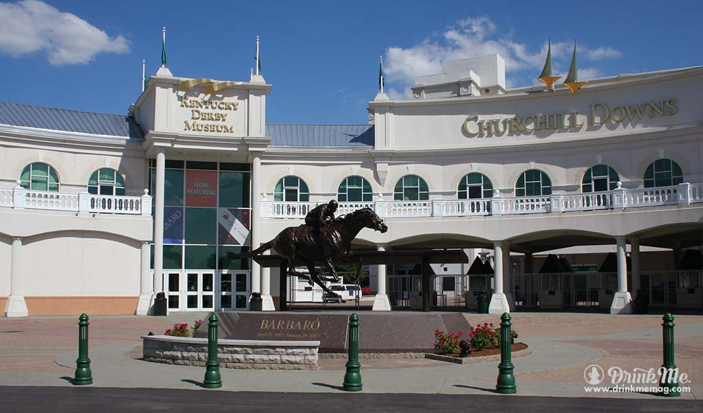 Entrances to Kentucky Derby Museum and Churchill Downs drinkmemag.com drink me Louisville Food and Drink