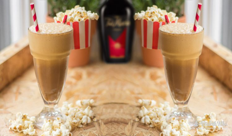 Iced Popcorn Frappe drinkmemag.com drink me Tia Maria Holiday Cocktails
