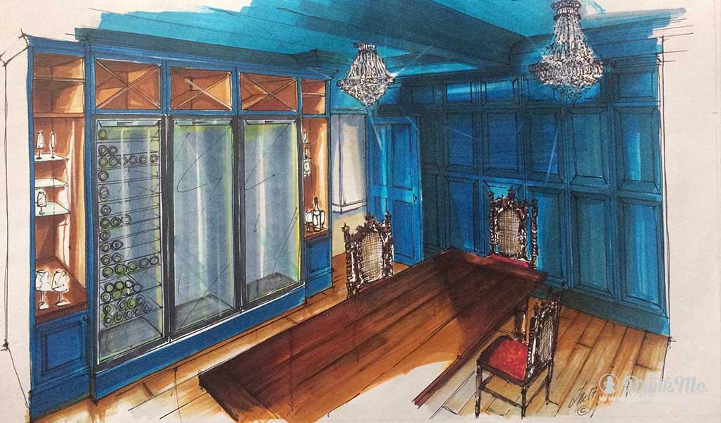 Fischer's Baslow Hall Wine Room drinkmemag.com drink me Fischer's Baslow Hall