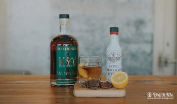 Chocolate Old Fashioned Rye drinkmemag.com drink me Balcones Campaign